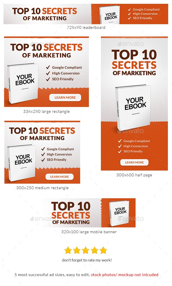 Marketing Ebook Banner Ad Template
