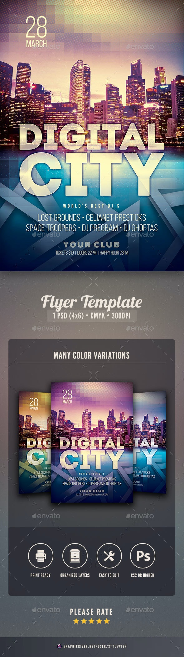 Digital City Flyer - Clubs & Parties Events