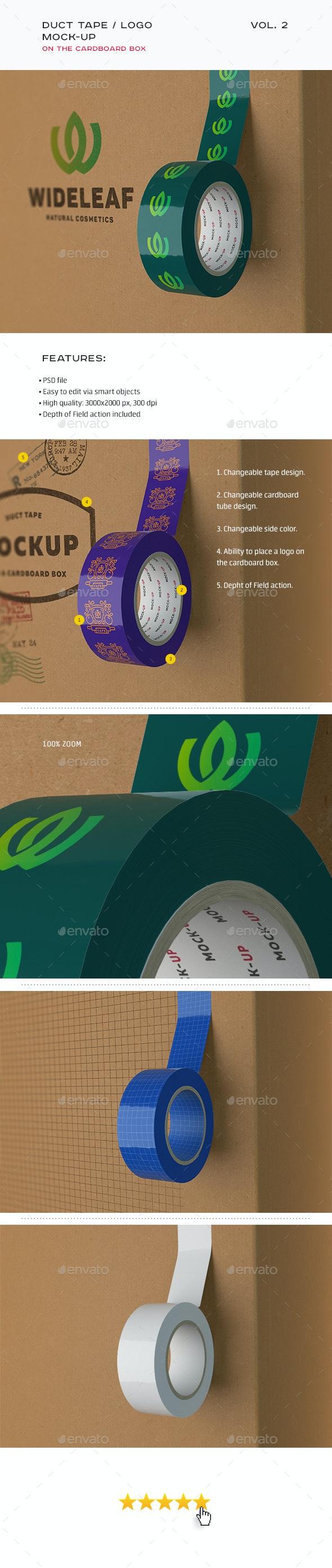 Duct Tape / Logo Mock-up vol. 2 - Product Mock-Ups Graphics