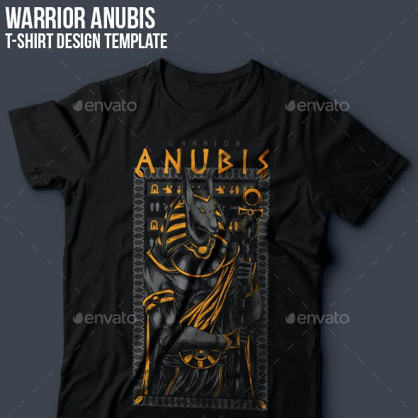 Anubis Warrior T-Shirt Design