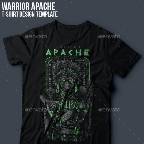 Apache Warrior T-Shirt Design