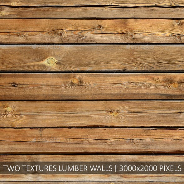 Two textures lumber walls