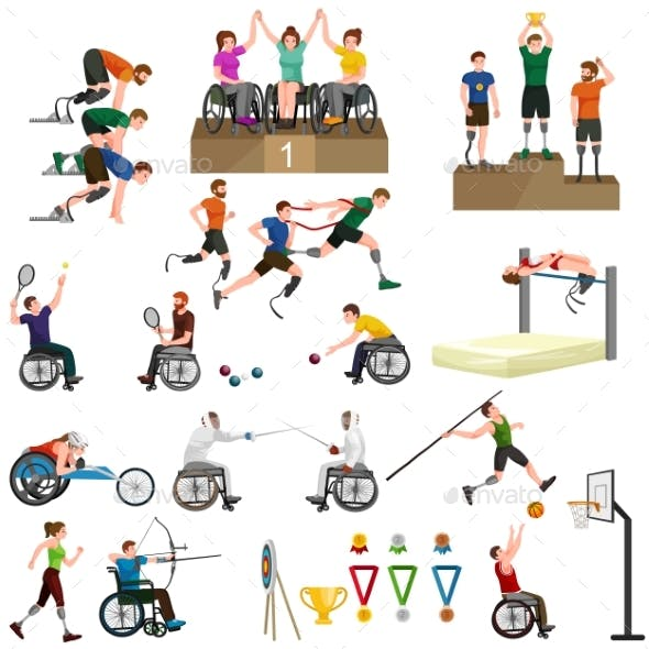 Disable Handicap Sport Paralympic Games