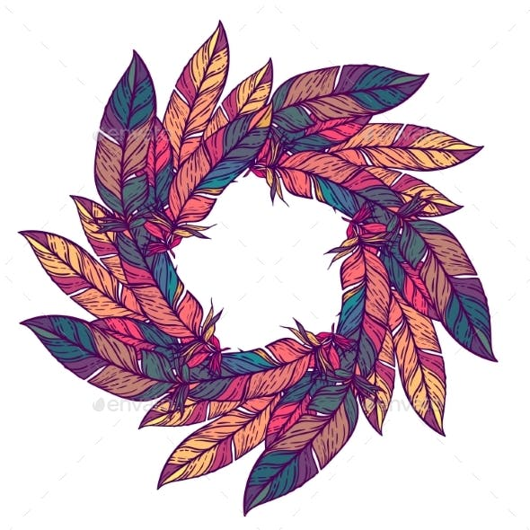 Color Circular Pattern Round Kaleidoscope