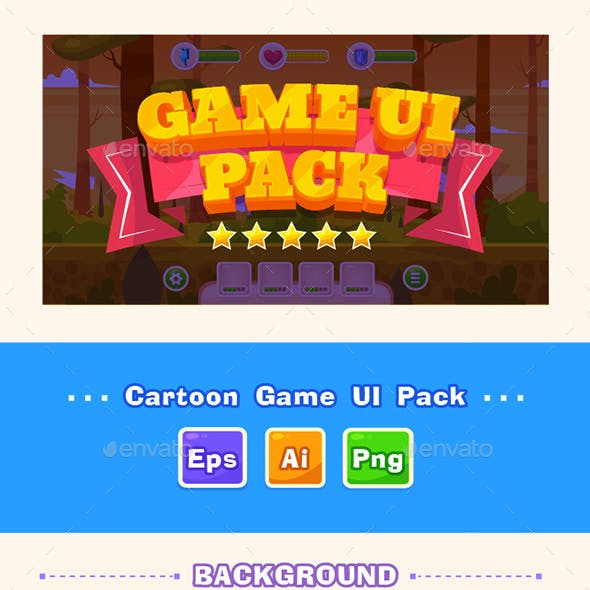 Cartoon Game UI#1