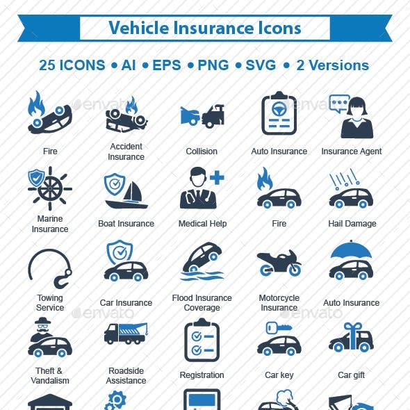 Vehicle Insurance Icons