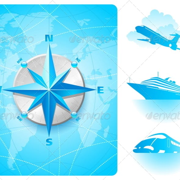 Compass Rose and Contemporary Transport