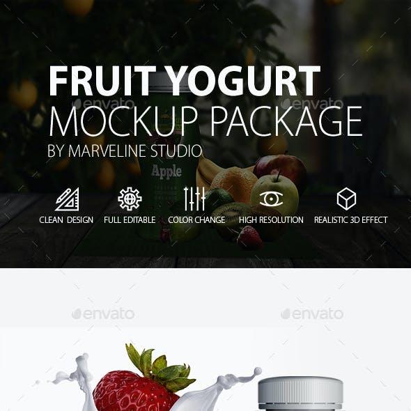 Yogurt Bootle Mockup