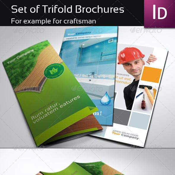 Set of Trifold Brochure
