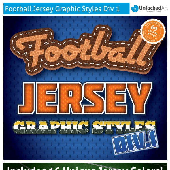 Football Jersey Div 1 Graphic Styles