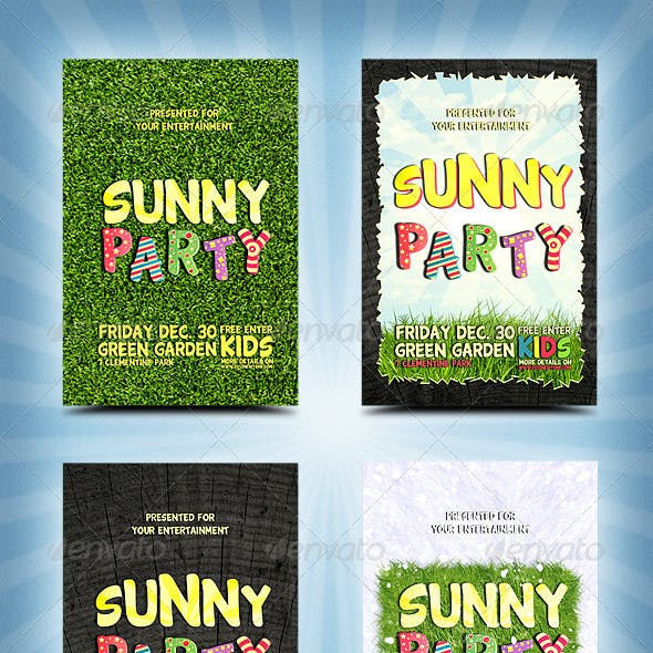 Party Flyers 4 in 1