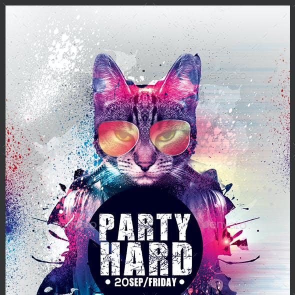 Party Hard Flyer