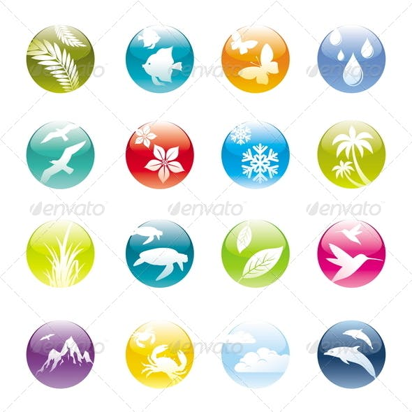 Nature & Eco Vector Icons Set