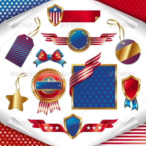 USA Patriotic Signs, Labels, Tags & Emblem - Miscellaneous Seasons/Holidays