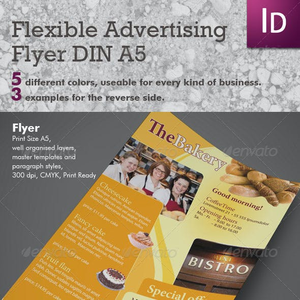Flexible Advertising Flyer