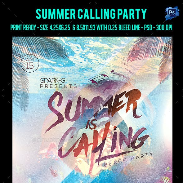 Summer Calling Party Flyer
