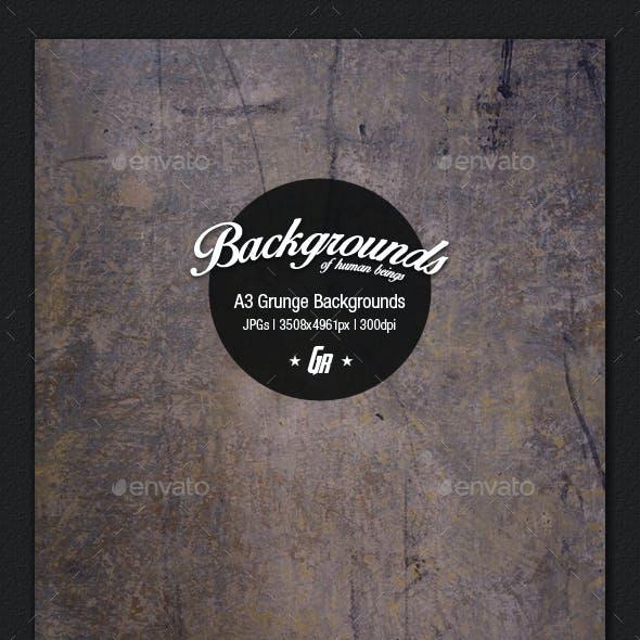 A3 Design Backgrounds - Grunge Wall Textures
