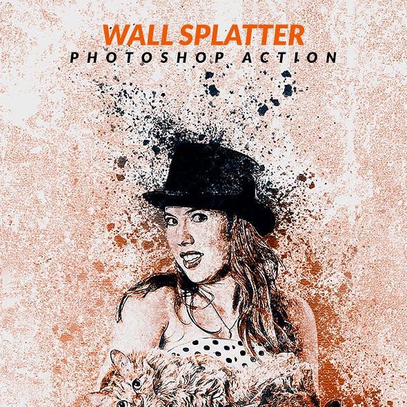 Wall Splatter Photoshop Action