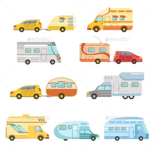 Camper Vans With Trailers Collection