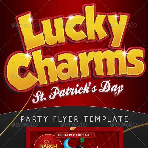 Lucky Charms St. Patrick's Day Flyer Template