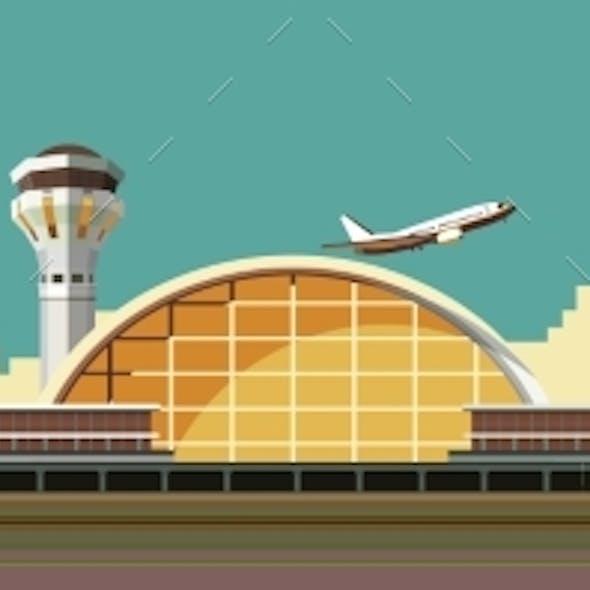 Airport Building Illustration