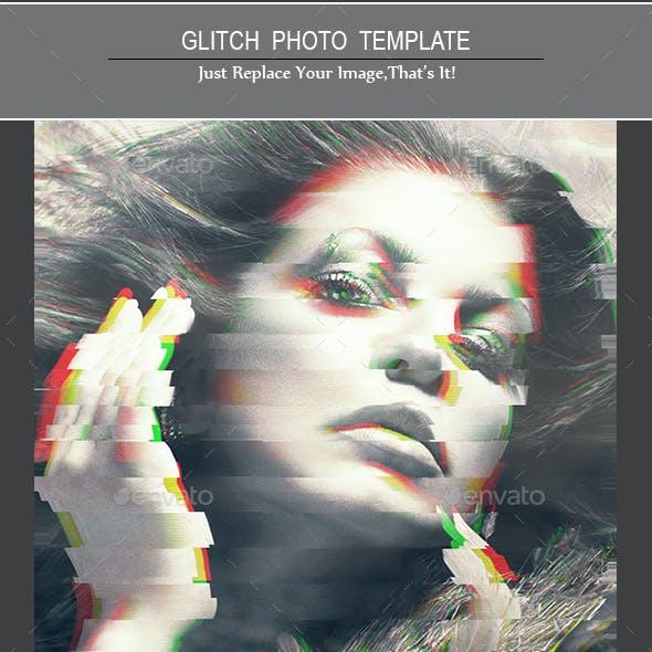 Glitch Photo Frame Templates