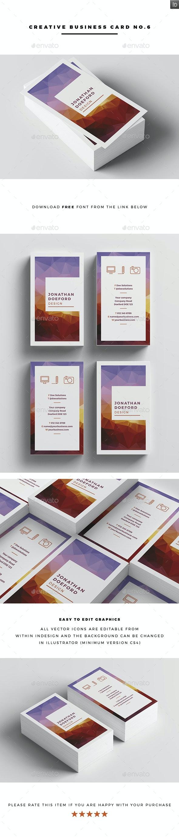 Creative Business Card No.6 - Creative Business Cards