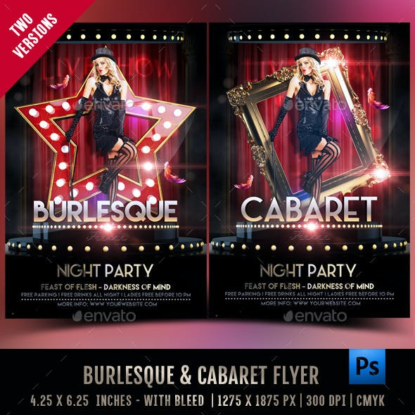 Burlesque And Cabaret Flyer