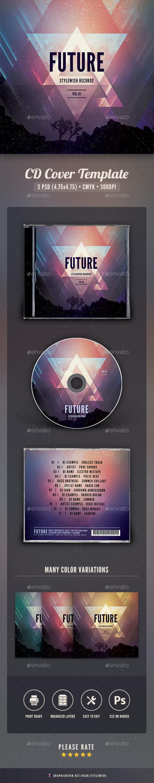 Futuristic CD Cover Artwork - CD & DVD Artwork Print Templates