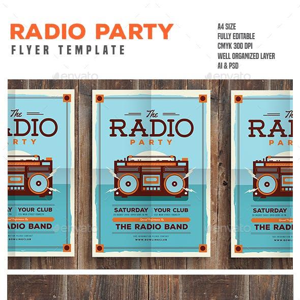 Radio Party Flyer