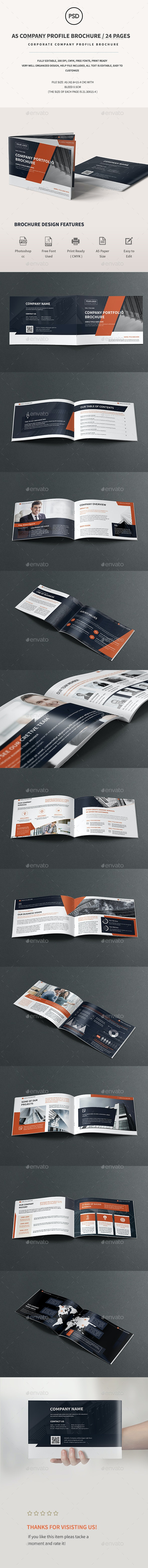 A5 Corporate Company Brochure  - Corporate Brochures
