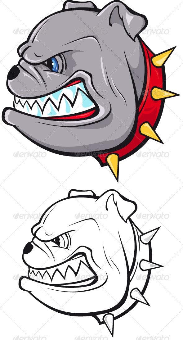 Bulldog Head - Animals Characters