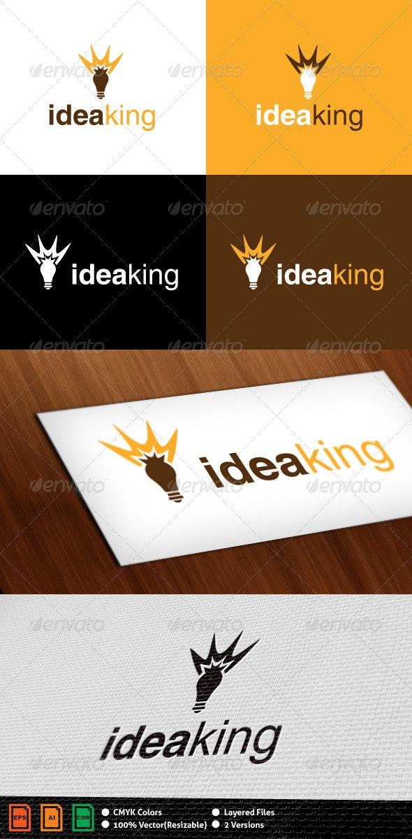 Idea King Logo Template - Objects Logo Templates