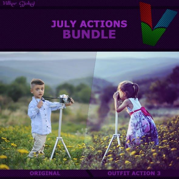 July Photoshop Actions Bundle