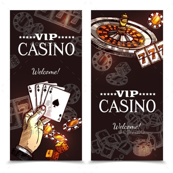 Sketch Casino Vertical Banners