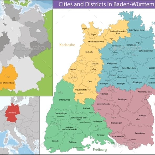 Map of Baden-Wurttemberg