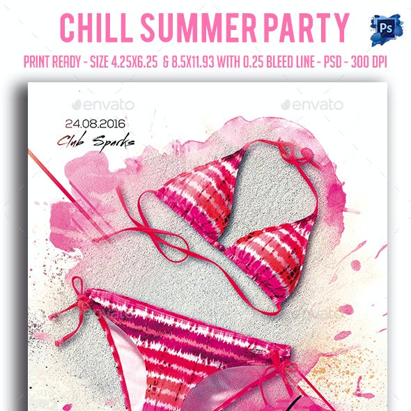 Chill Summer Party Flyer