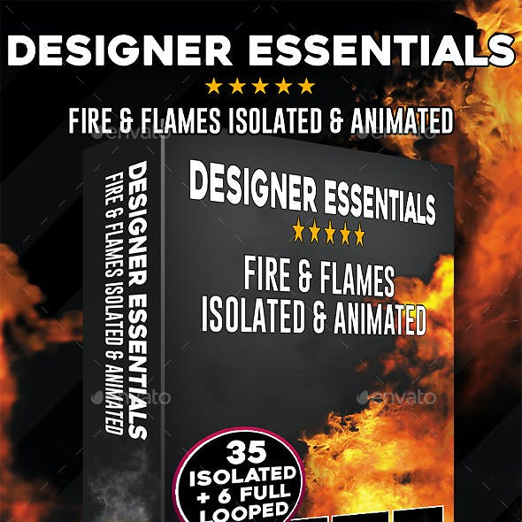 Fire & Flames Isolated & Animated