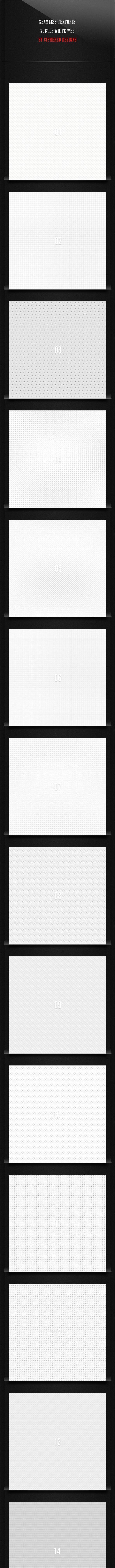 Seamless Textures - Subtle White Web - Textures / Fills / Patterns Photoshop