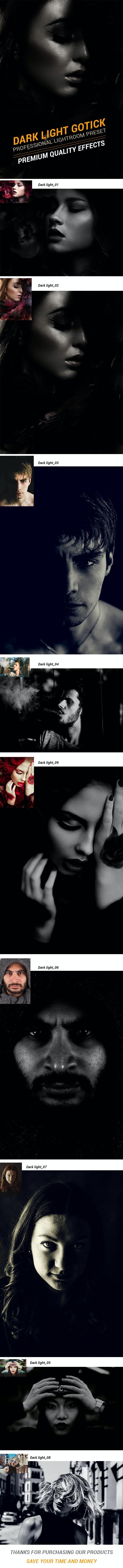 Dark Light Gothic Preset - Black and white Lightroom Presets