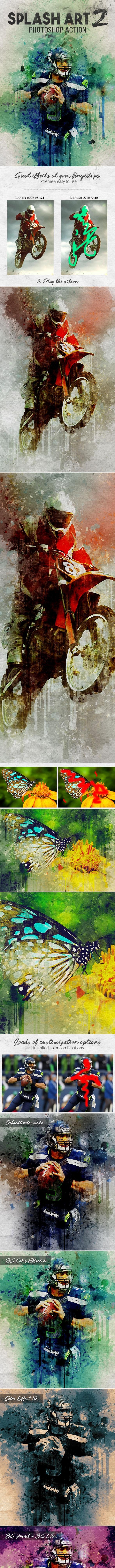 Splash Art 2 Photoshop Action - Photo Effects Actions