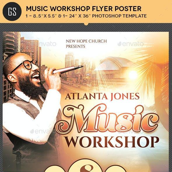 Music Workshop Flyer Poster Template