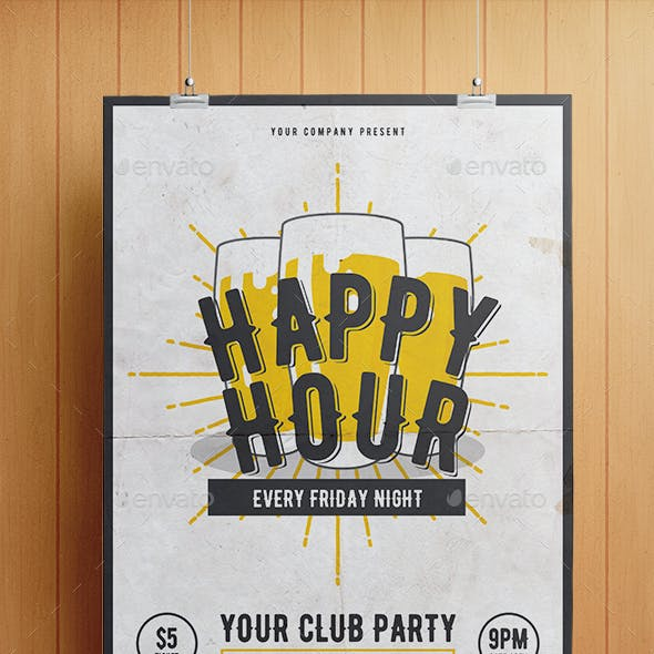 Happy Hour Flyer