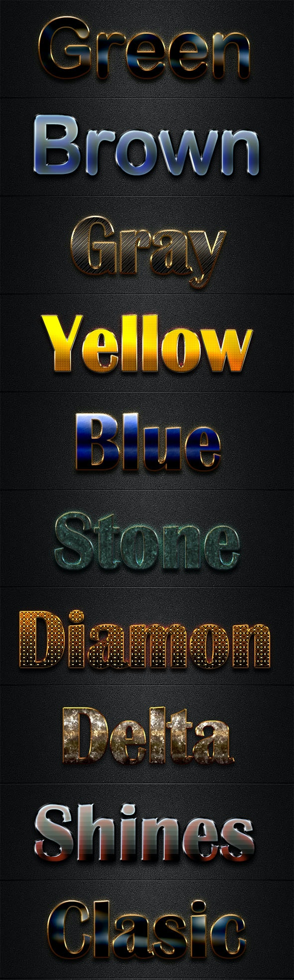 File Luxury Text Styles V19 - Styles Photoshop