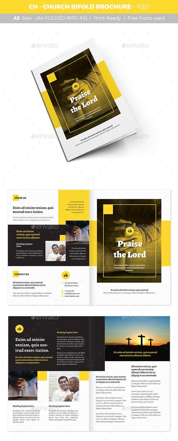 CH - Church Bifold Brochure - Informational Brochures
