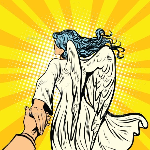 Follow Me, Woman Angel With Wings