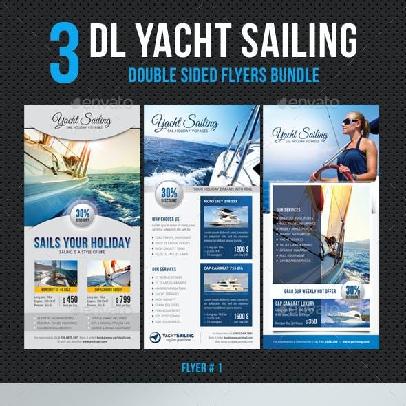 3 in 1 DL Yacht Sailing Flyer Bundle V2