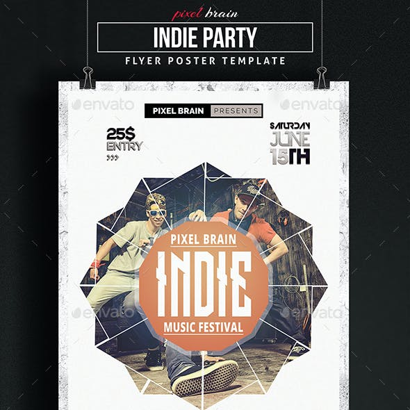 Indie Music Flyer Template Vol. 3