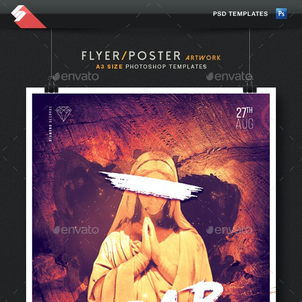 Trap Sound vol.2 - Party Flyer / Poster Template A3