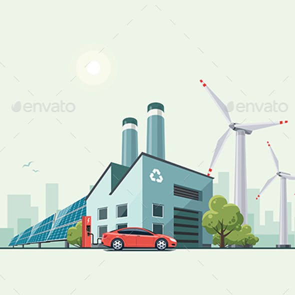 Green Eco Recycling Factory
